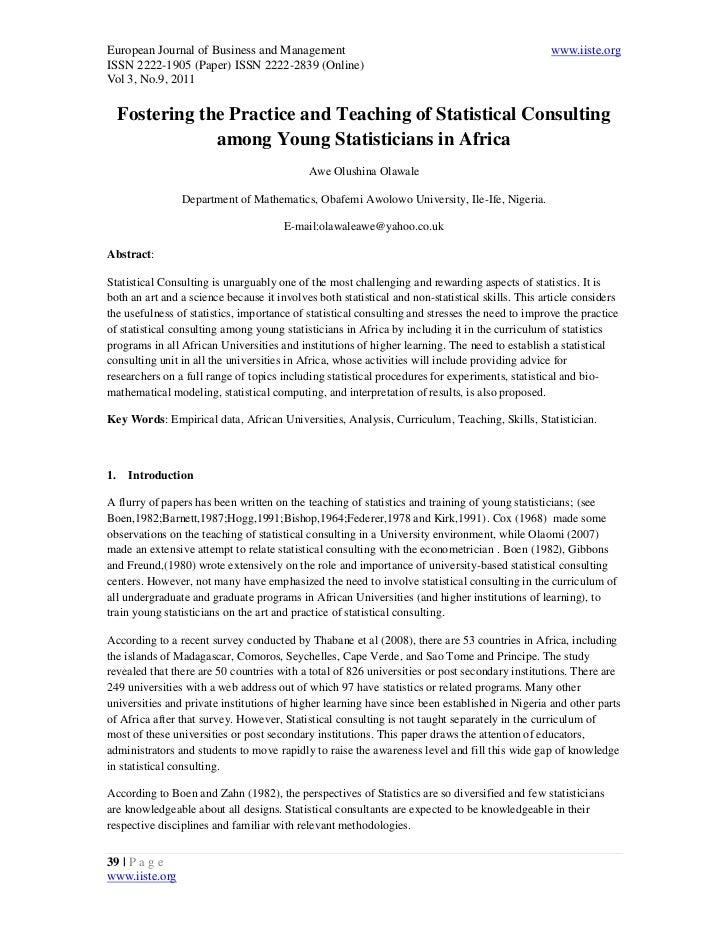 5.[39 44]fostering the practice and teaching of statistical consulting among young statisticians in africa