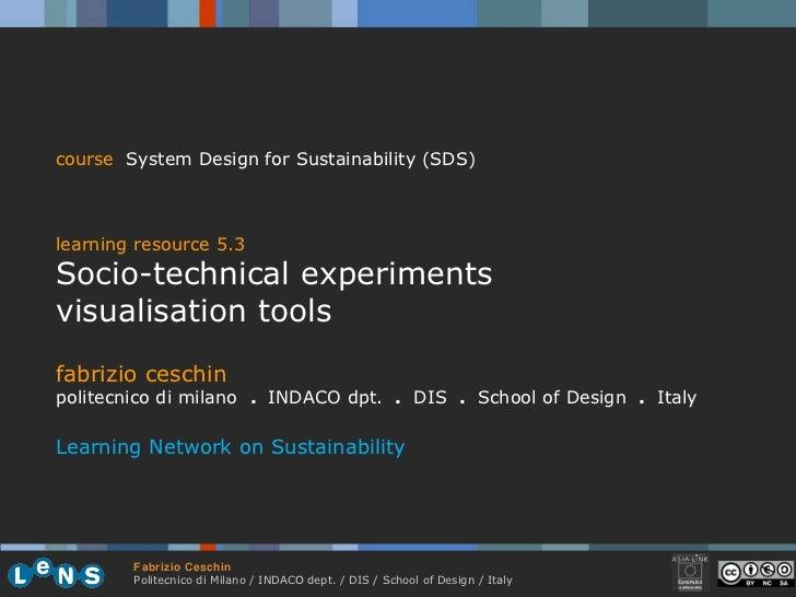 5.3 socio technical experiments visualisation tools ceschin