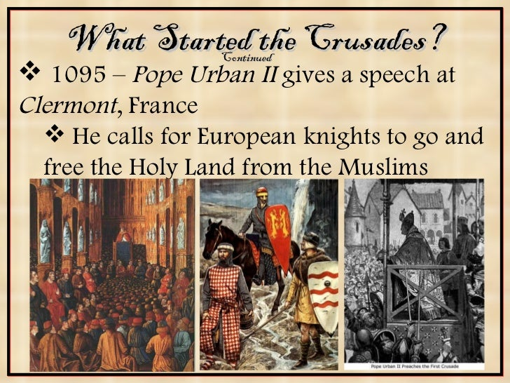 urban ii speech at clermont essay Pope urban ii naturally had a religious control over his people and when he gave  his speech at the council of clermont in november 1905, he constantly.