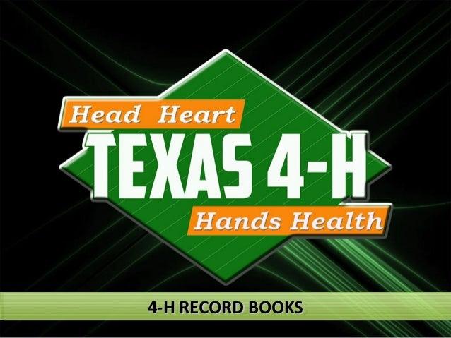 4-H RECORD BOOKS4-H RECORD BOOKS