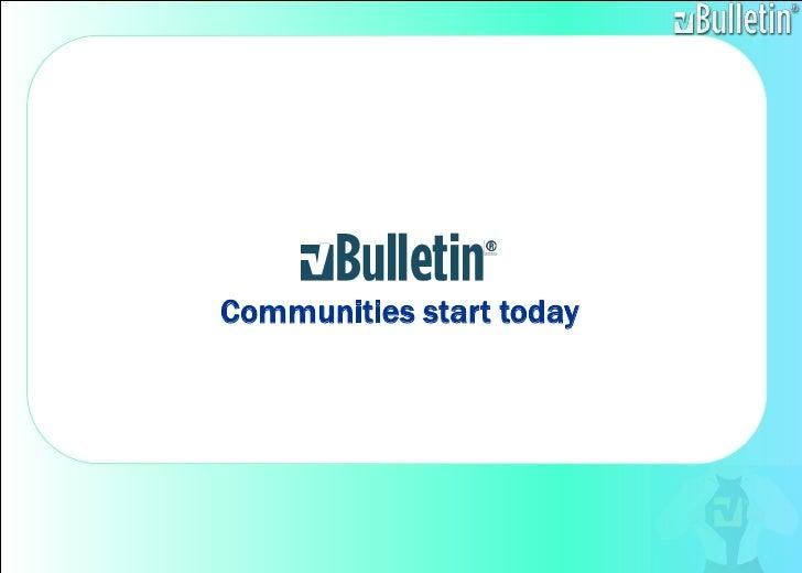 Communities start today<br />