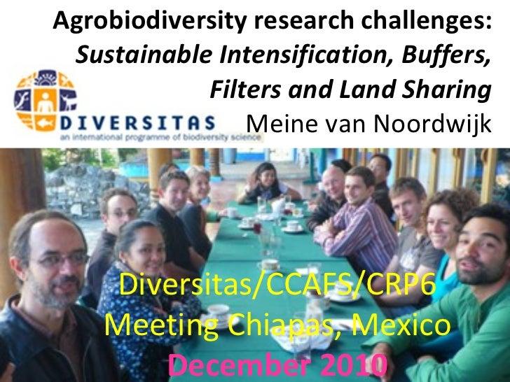 Agrobiodiversity research challenges - Meine van Noordwijk