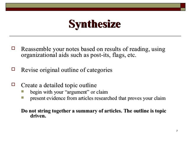 Summarizing and Synthesizing: What s the Difference