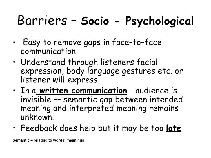 psychological barriers to business communication What are emotional barriers  whether it's through their work or through interpersonal communication how emotional barriers affect your life  business  hr.