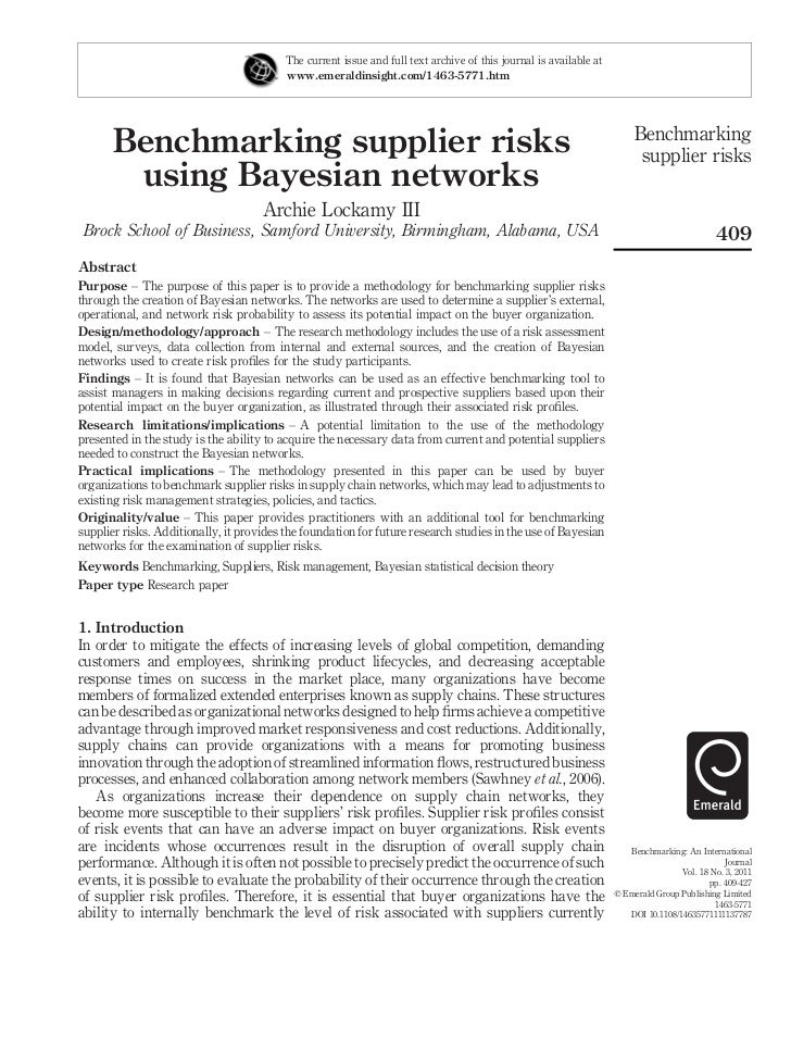 5.benchmarking supplier