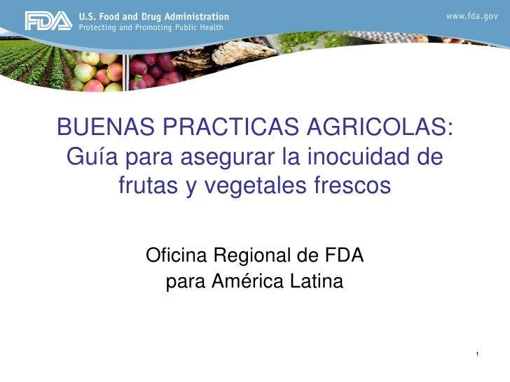 5 buenas pr cticas agr colas y de manufactura para for Manual de buenas practicas de higiene y manipulacion de alimentos