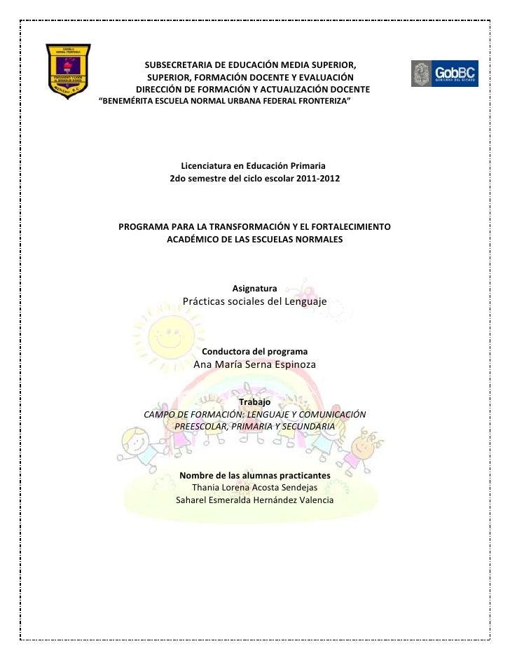 SUBSECRETARIA DE EDUCACIÓN MEDIA SUPERIOR,          SUPERIOR, FORMACIÓN DOCENTE Y EVALUACIÓN       DIRECCIÓN DE FORMACIÓN ...