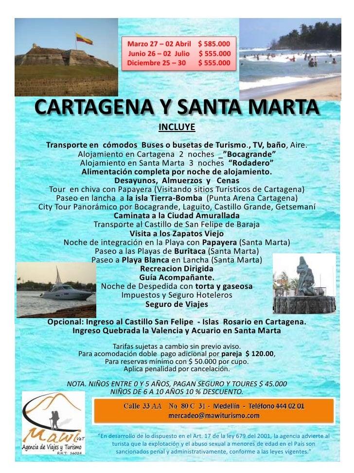 Excursiones Cartagena y Santa Marta
