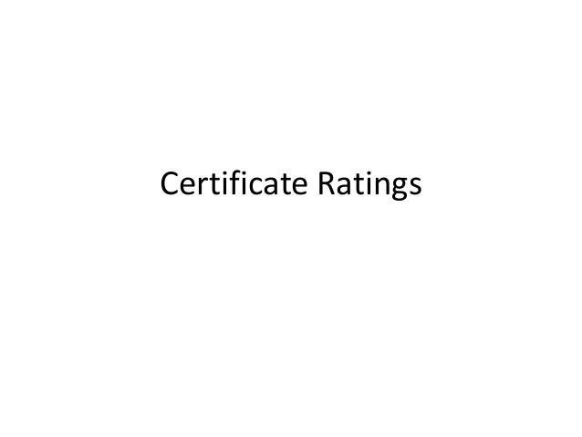 Certificate Ratings