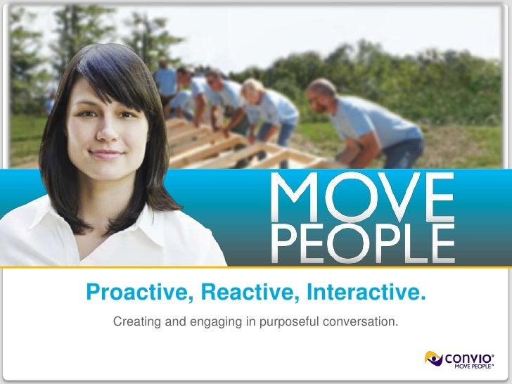 Cheryl Black, Convio: Proactive vs. Reactive Social Media