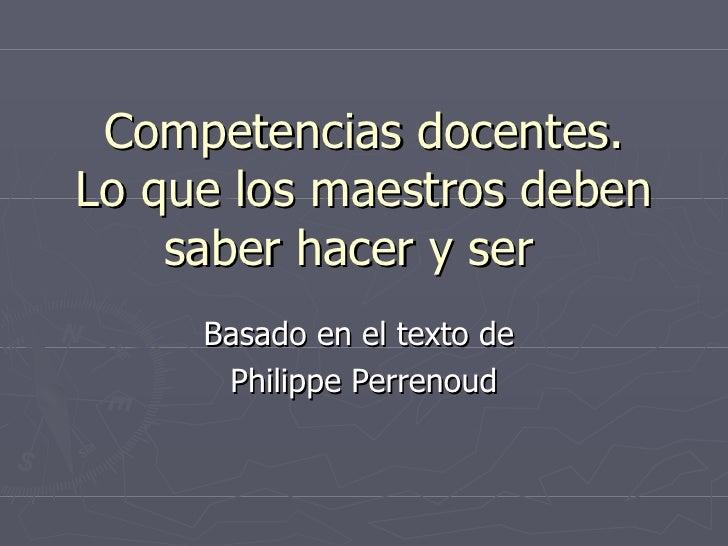 5. Competencias Docentes