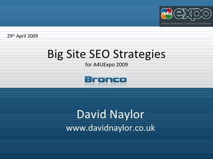 Big Site Seo Strategies