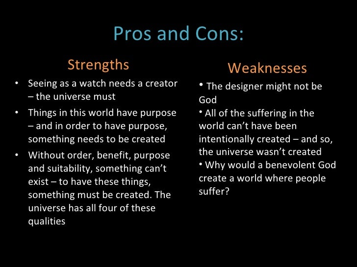 a view on the design arguments for the existence of god and the teleological arguments Religious studies looking at the existence of god and the teleological arguments for the existence of god teleological argument (argument from design.