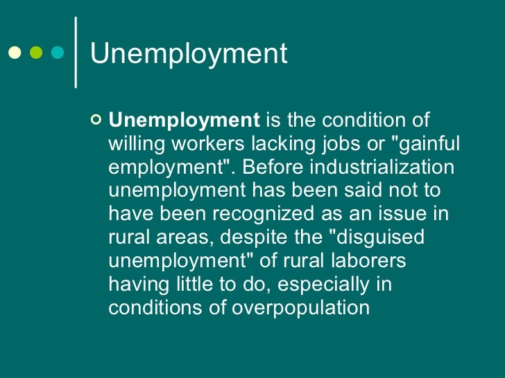 Unemployment and its impact on the society essay