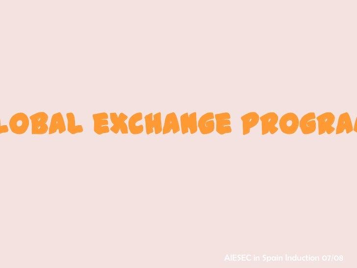 Global eXchange Program
