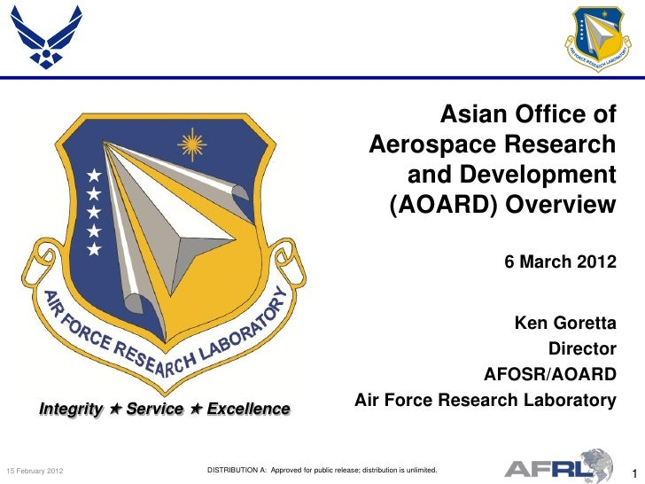 Asian Office of                                                                               Aerospace Research          ...