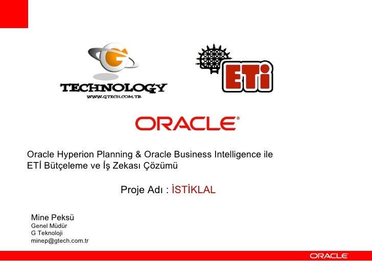 5.G Teknoloji Oracle Day Sunumu