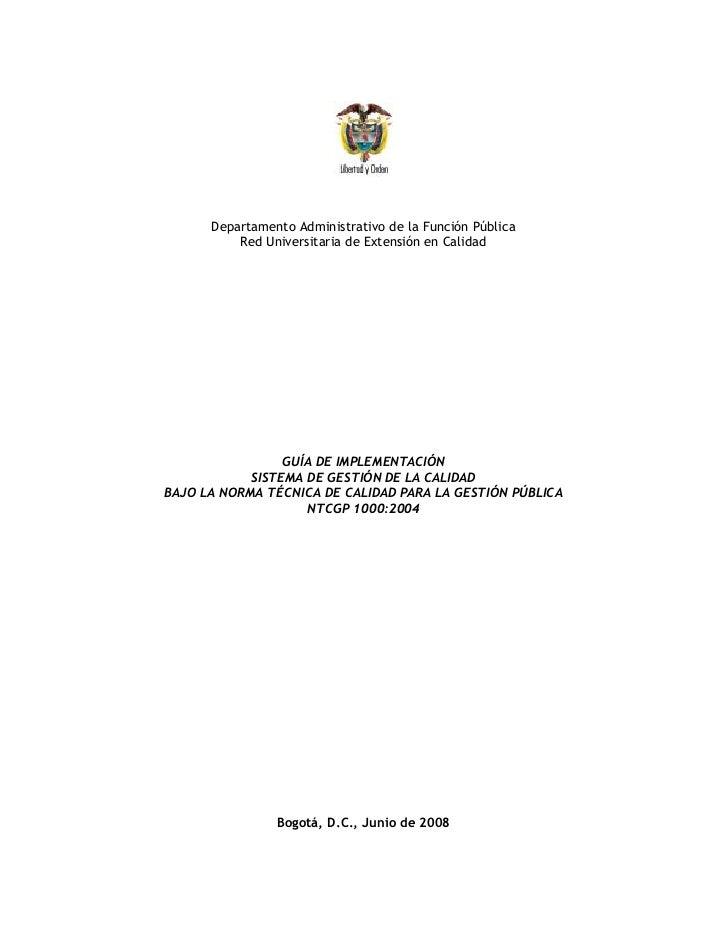 GUIA DE IMPLEMENTACION SGC