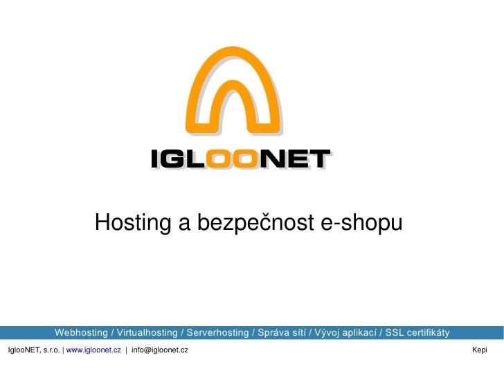 Internet session: Hosting a bezpěčnost e-shopu