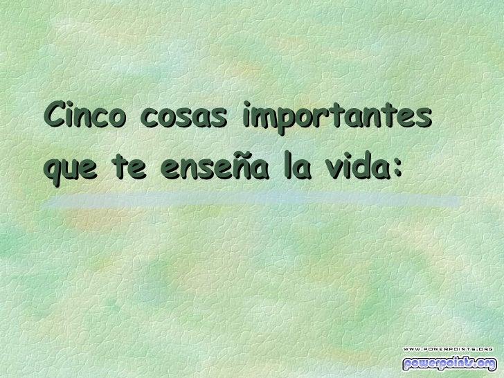 5 Importantes