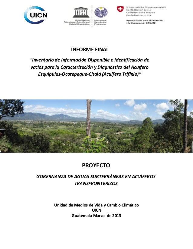 informe final consultoria acu°fero trifinio (esp)