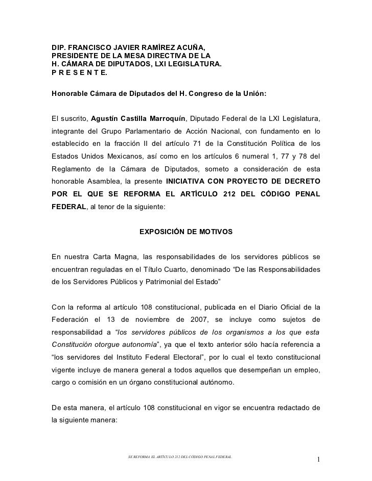 Iniciativa sobre Responsabilidad Penal de servidores públicos de órganos constitucionales autónomos
