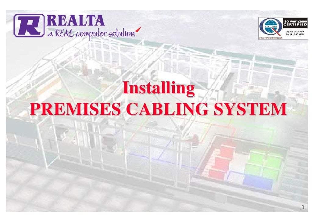 5 Installing Premises Cabling System