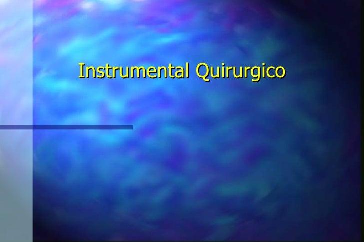 5.instrumental quirurgico