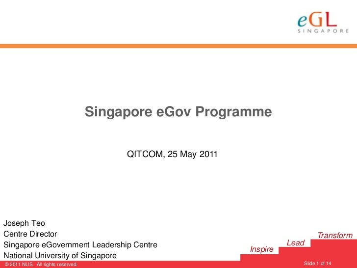 Mr. Joseph Teo's presentation at QITCOM 2011