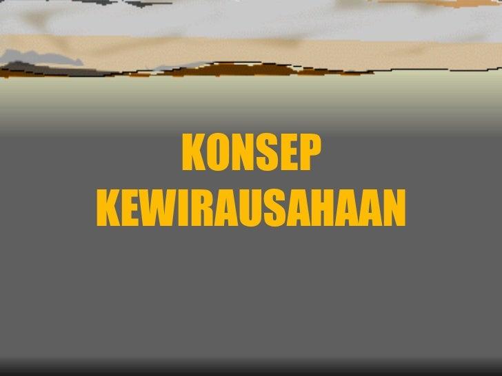 5 Konsep Kewirausahaan Rev