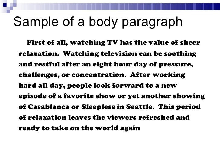 short paragraph on television