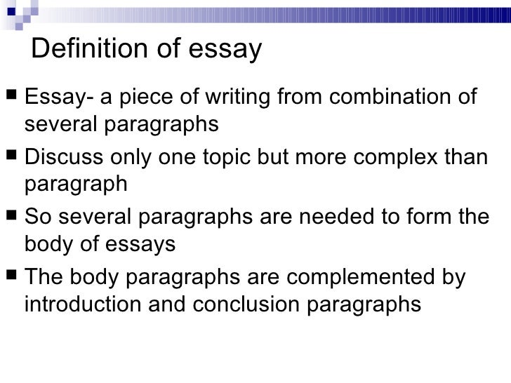 Essay writing help definition