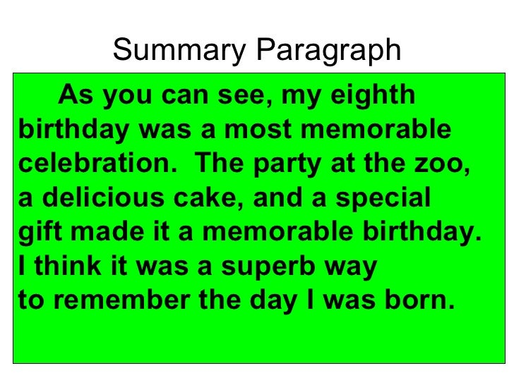 essay about my friend birthday party