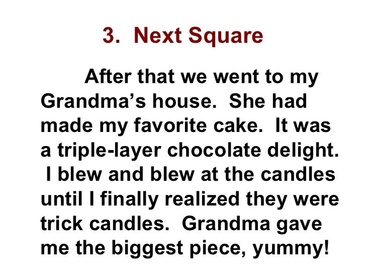 a story told by your grandmother essay