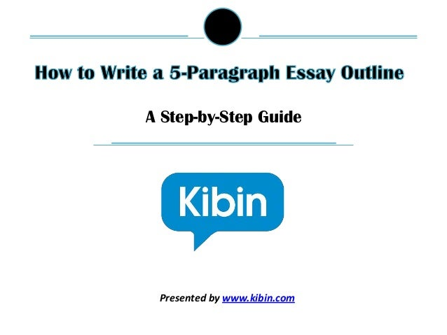 How to write a 5 paragraph essay outline