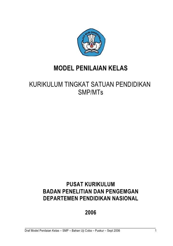 5. pedoman penilaian smp uji coba 2006