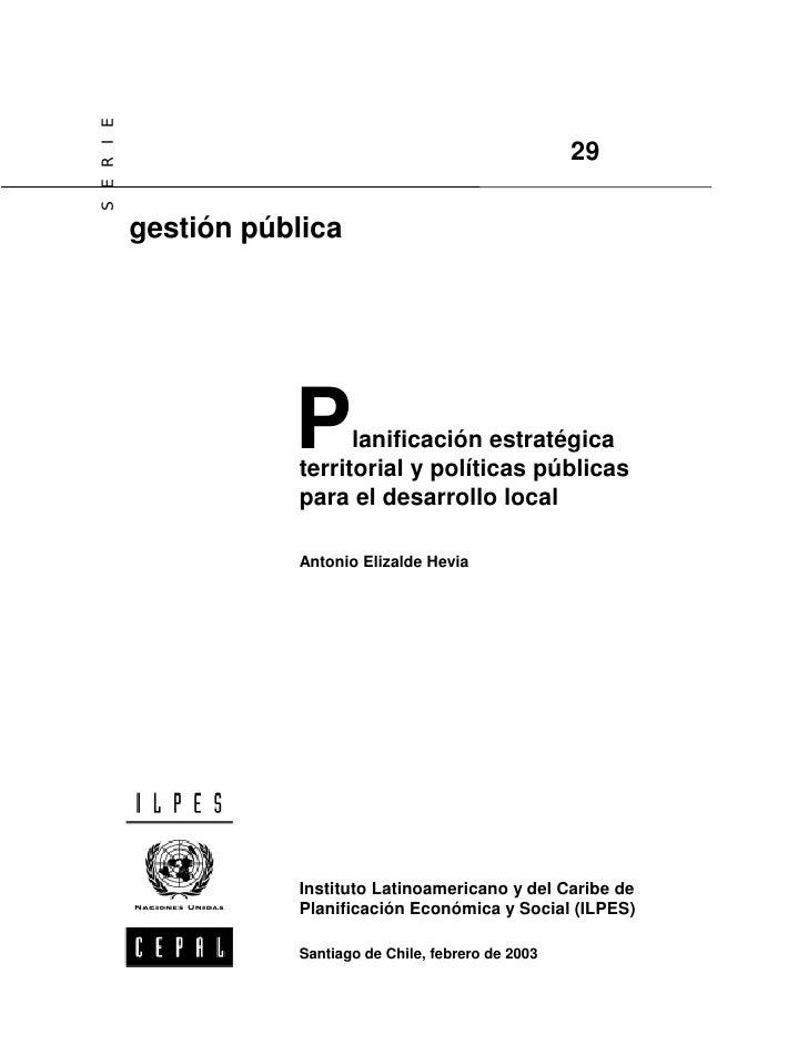 5. planificacion estratégica territorial y politicas des local