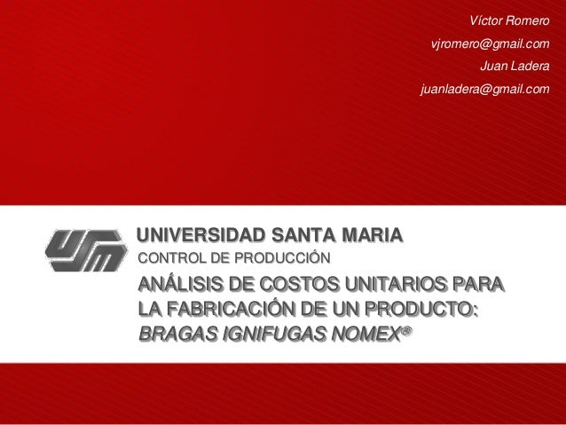 Proyecto Bragas Ignifugas Nomex