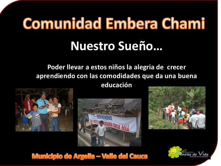 presentación de la comunidad embera