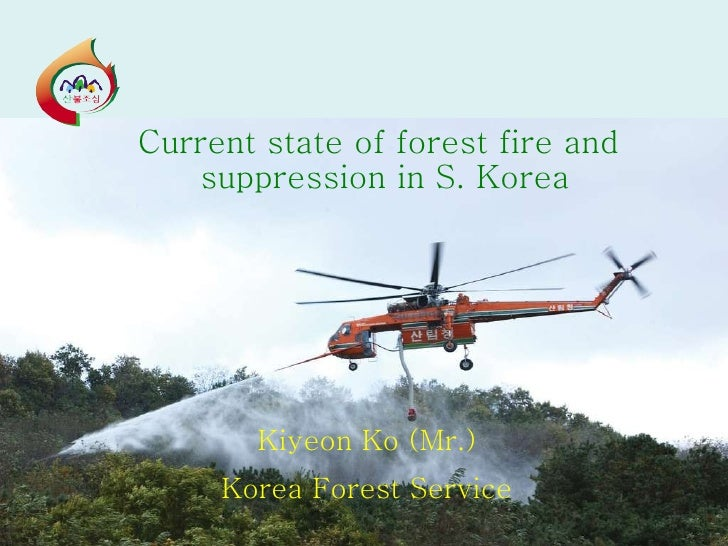 Current state of forest fire and suppression in S. Korea Kiyeon Ko (Mr.) Korea Forest Service