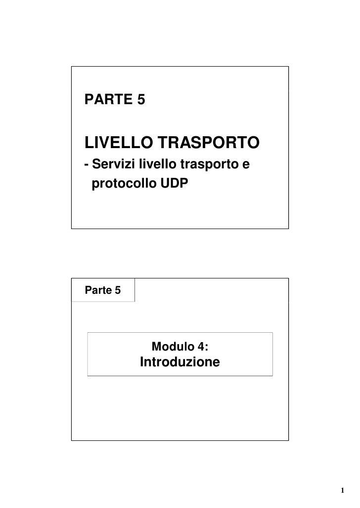 5 Protocolli Trasporto Parte1