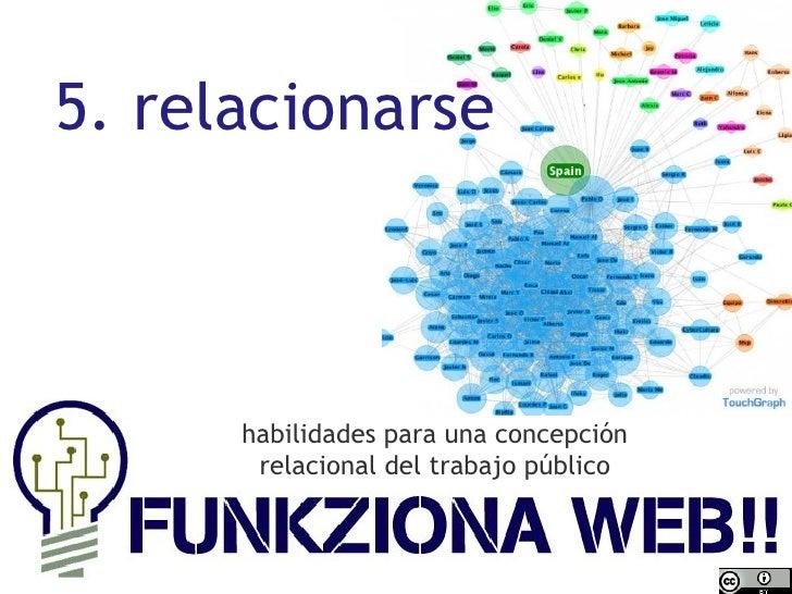 habilidades para una concepción relacional del trabajo público 5. relacionarse