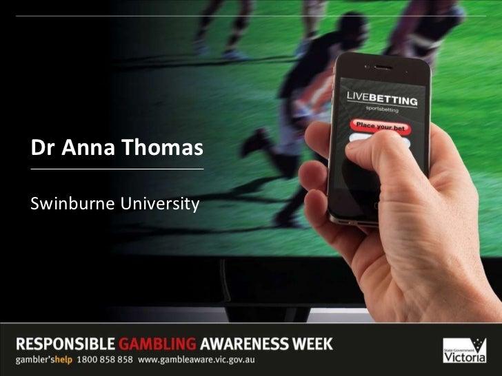 Dr Anna Thomas Swinburne University