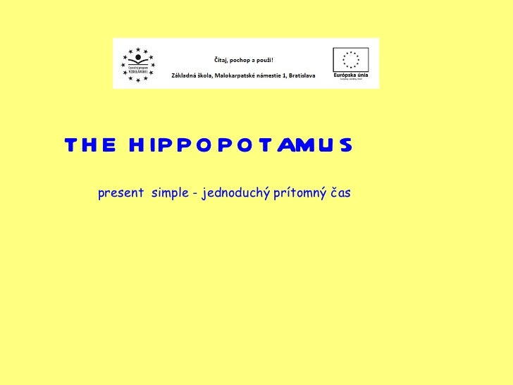 5.roč hippopotamus