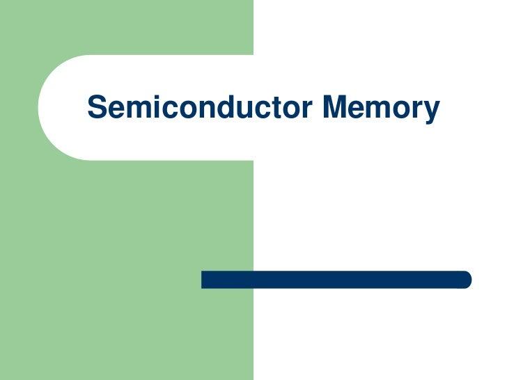 5. semiconductor storage