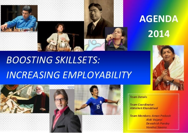 . BOOSTING SKILLSETS: INCREASING EMPLOYABILITY Team Details Team Coordinator: Abhishek Khandelwal Team Members: Aman Praka...