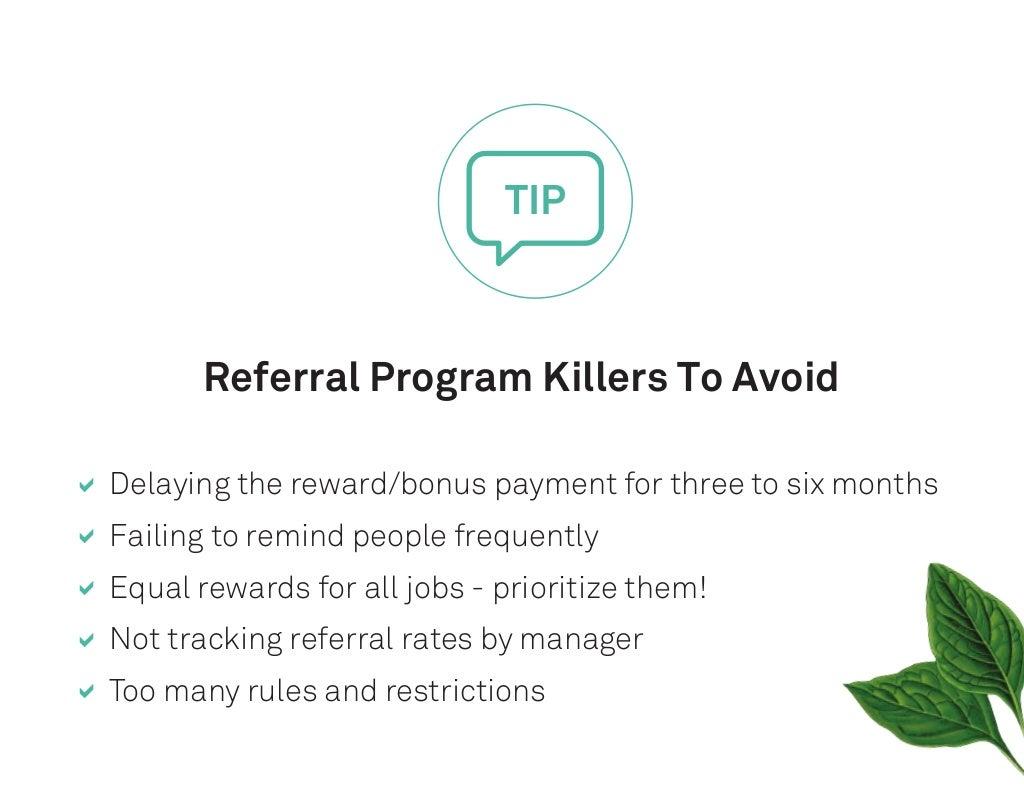 referral program killers to avoid