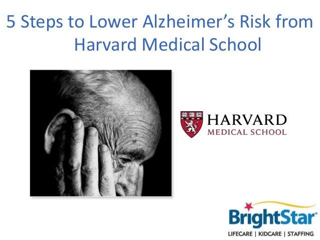5 Steps to Lower Alzheimer's Risk from Harvard Medical School