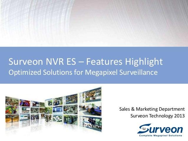 Surveon Enterprise VMS ES2.5 Overview