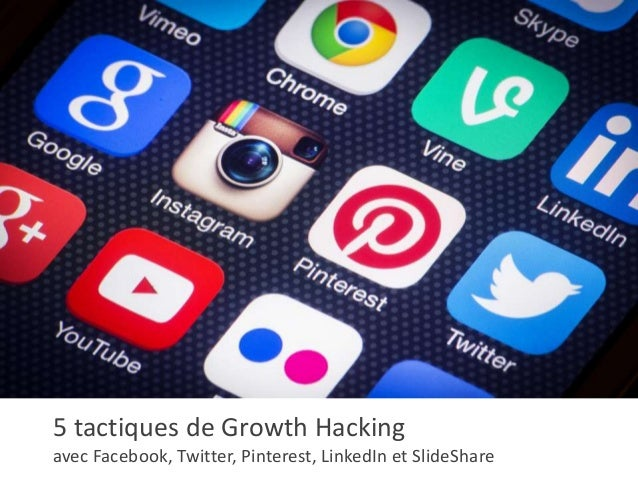 5 tactiques de Growth Hacking avec Facebook, Twitter, Pinterest, LinkedIn et SlideShare